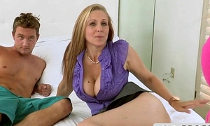 MILF Stepmom Julia Ann Gets Caught Sucking Cock away from Teen Haulier Cruise