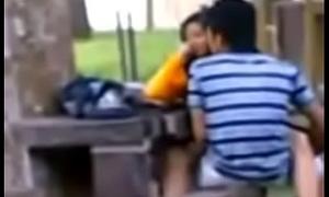 Open Sex School girl and her boyfriend in the car park