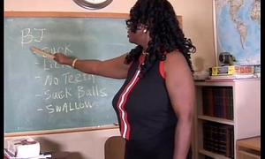 Sexy grown up black teacher fucks her juicy pussy be required of you