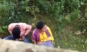 Indian couple affronting on hidden camera
