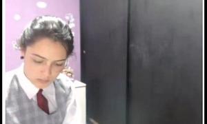 Colombiana en Uniforme Escolar Bongacams Nanaschool