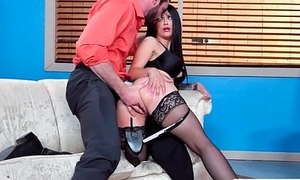 (Katrina Jade) Gaffer Sexy Office Girl Operative In Hard  Sex Act video-27