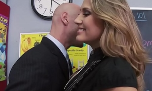 Big Tits at one's fingertips School - Close-fisted Teacher Be wild about Her Former Pupil scene starring Alanah Rae &amp_ Johnny Sin