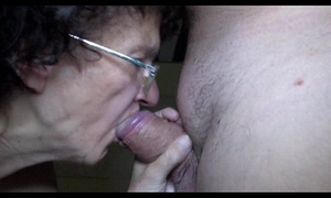 Old mature and young girl arduous fellatio and handjob